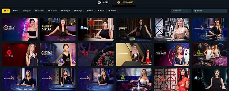 betwinner casino live screenshot