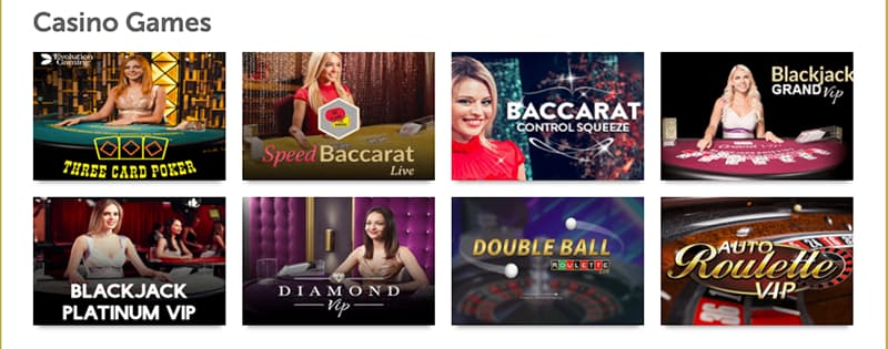 mini mobile casino live screenshot