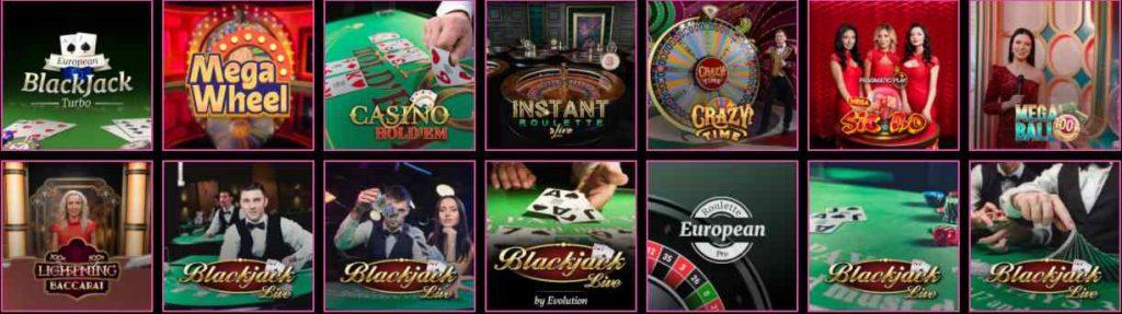 screenshot luckyniki live casino