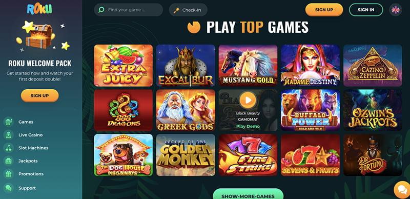 roku casino online screenshot games